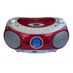 RADIO CD USB ROJO
